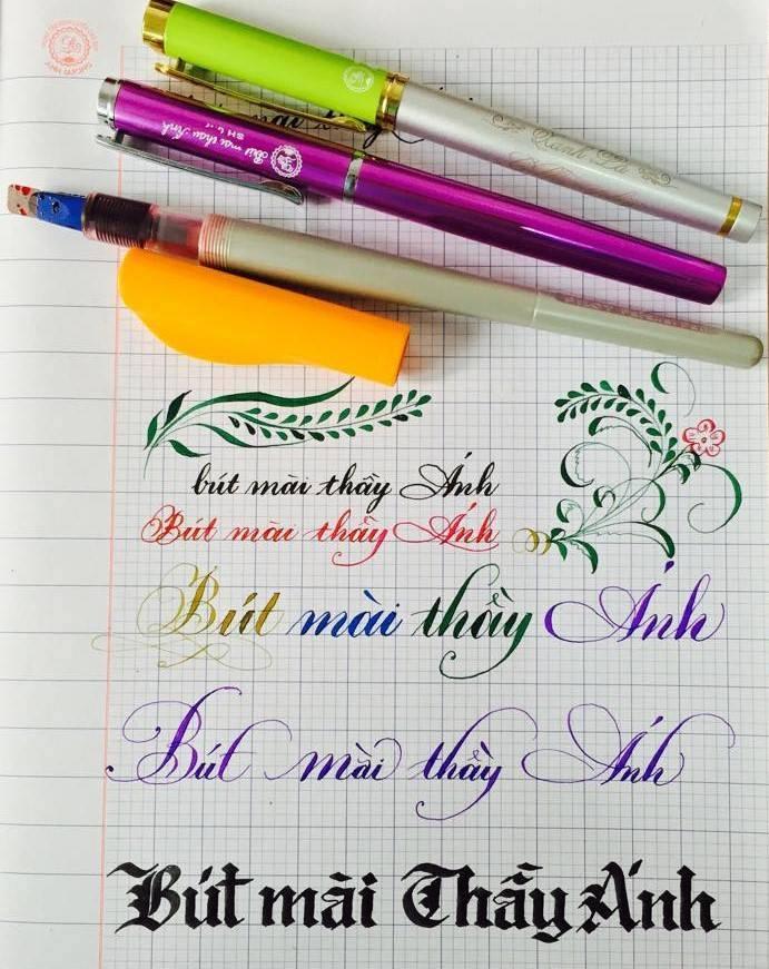 mai quy - Luyện chữ đẹp với bút mài thầy Ánh