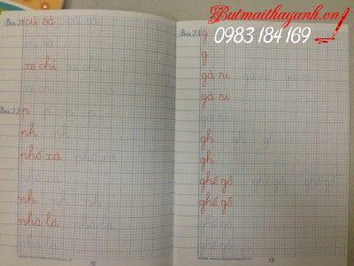 vở luyện chữ cho học sinh lớp 1