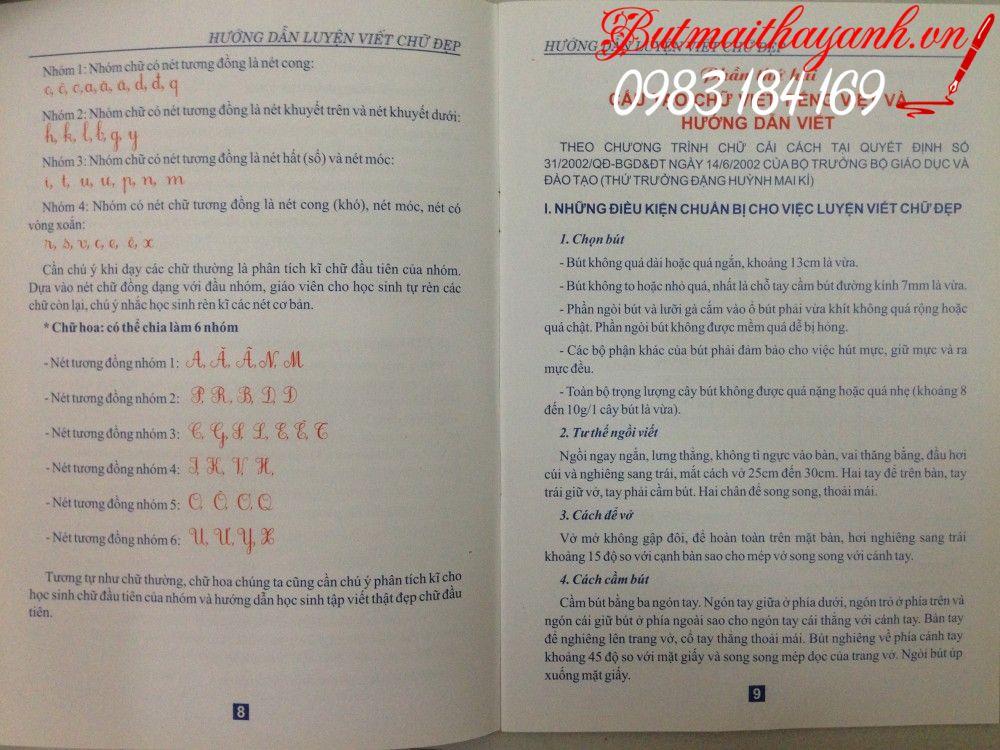 hướng dẫn luyện viết chữ đẹp