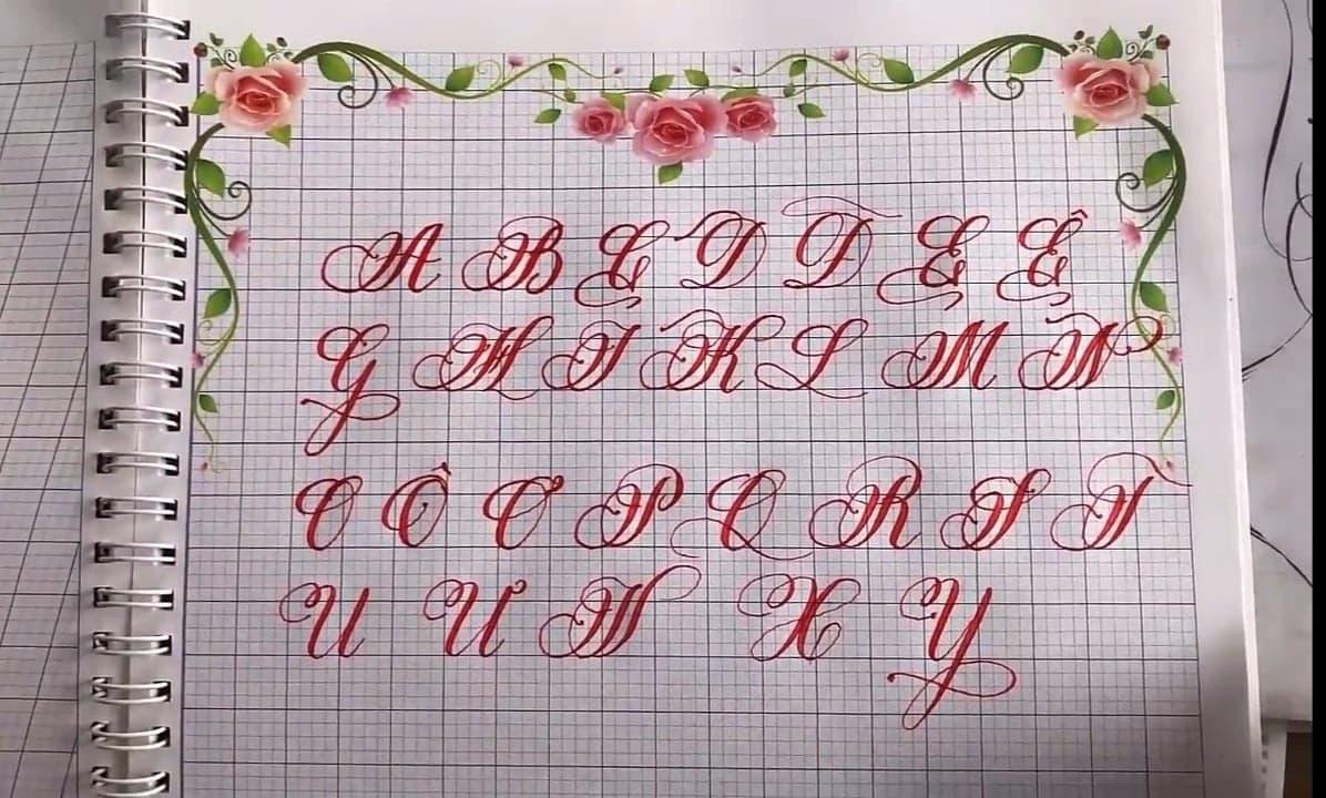 bảng chữ cái hoa sáng tạo