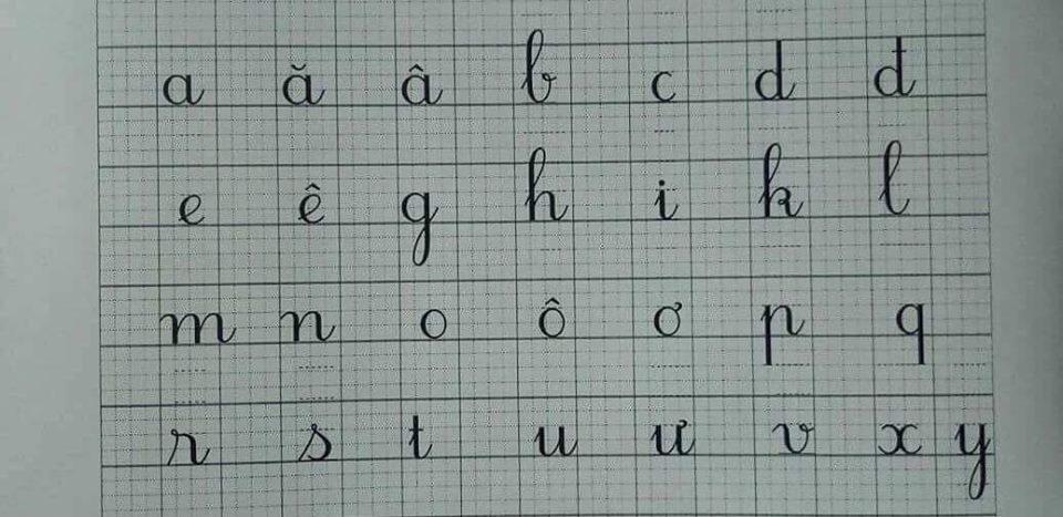 bang chu cai 3 - Kỹ thuật luyện chữ: Bảng chữ cái mẫu thường, mẫu hoa, chữ hoa sáng tạo
