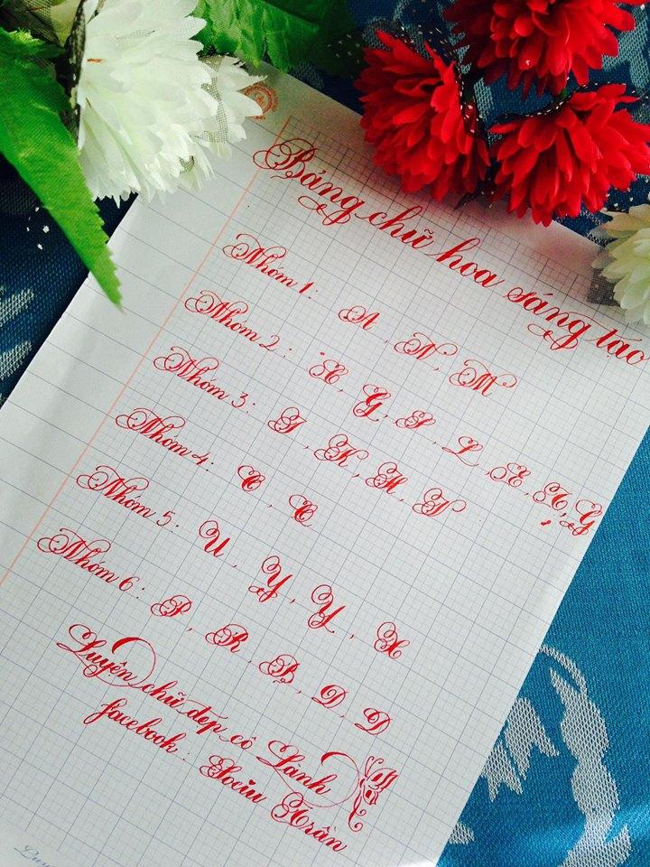 mau chu hoa - Những mẫu chữ in hoa đẹp, sáng tạo được nhiều người yêu thích