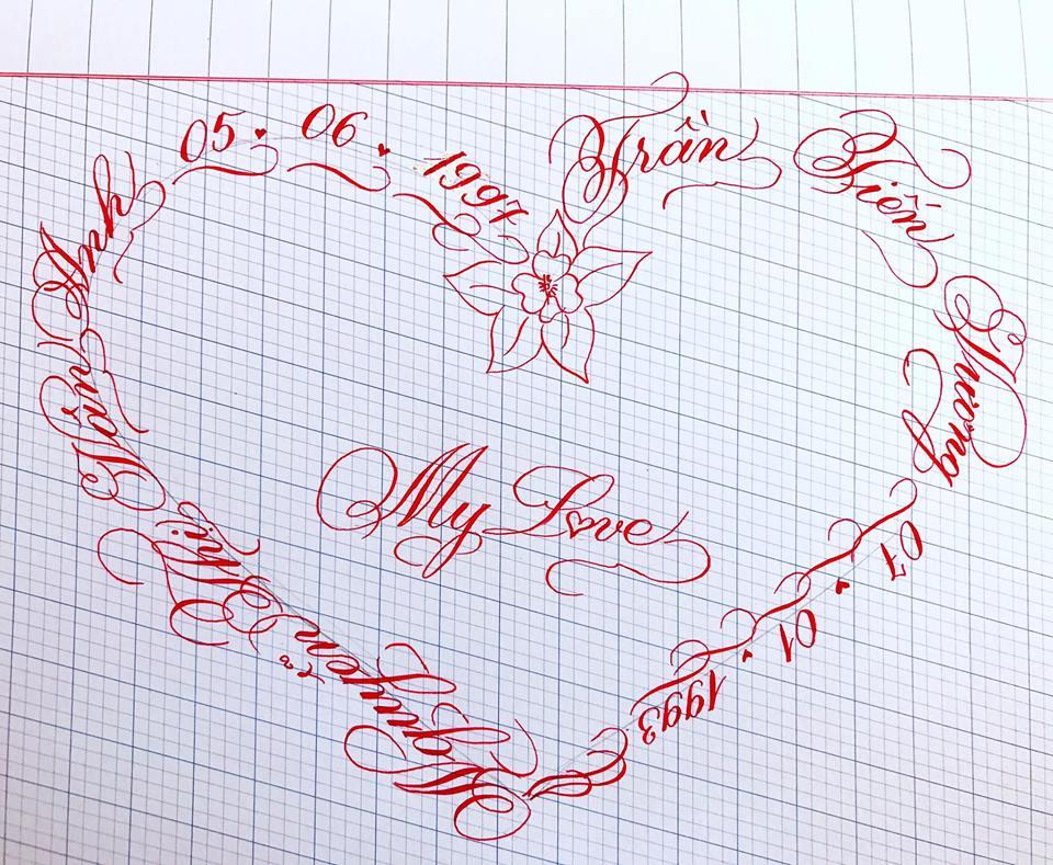 viet ten voi chu nghe thuat 22 - Kỹ thuật luyện chữ: Bảng chữ cái mẫu thường, mẫu hoa, chữ hoa sáng tạo